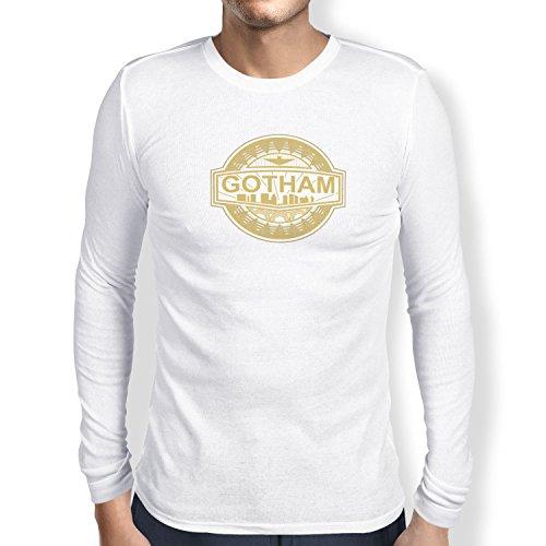 TEXLAB - Gotham Logo - Herren Langarm T-Shirt Weiß