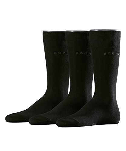 ESPRIT Herren Socken Uni Mix 3er Pack Schwarz (Black 3000), 40/46