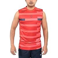 Canotta da uomo NIKE Dri-fit Football senza maniche Pre-Match Formazione Gilet Serbatoio RED-BLACK