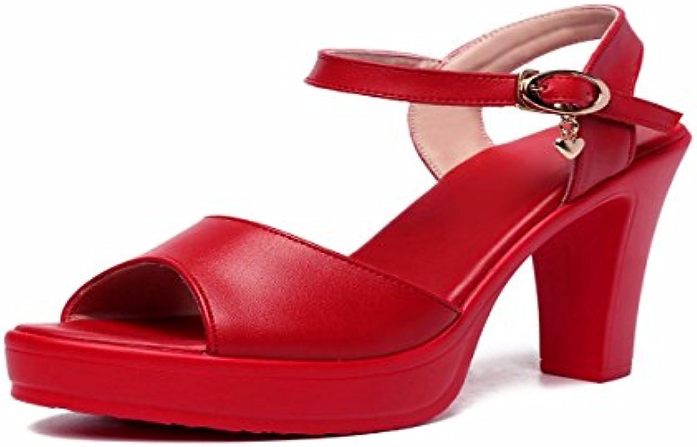 HBDLH Scarpe da donna Traspiranti Spessa Impermeabile Tabella Tabella Tabella I Sandali rosso Wedding Scarpe Qipao Vestito Cinese... | Vari disegni attuali  579587