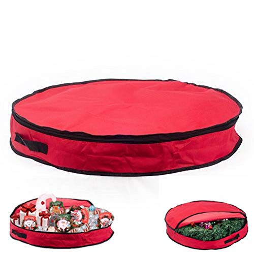 Borsa per ghirlande natalizie da 61 x 17,8 cm e borsa per albero di Natale da 30 x 140 cm, borse per decorazioni natalizie con maniglie, resistenti, impermeabili 61 x 17,8 cm.