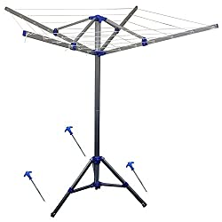4 Arm Rotary Folding Aluminium Fixable Camping Clothes Airer