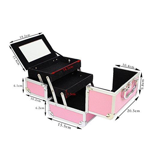 Zoom IMG-2 hbf valigetta trucchi rosa accessori