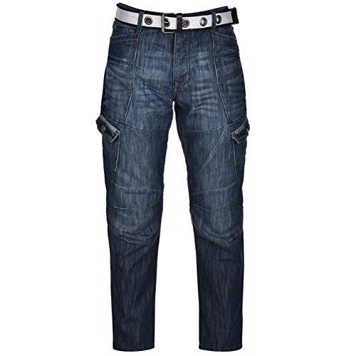 airwalk-herren-cargo-jeans-denim-hose-straight-fit-guertel-6-taschen-cargohose-blau-38w-s