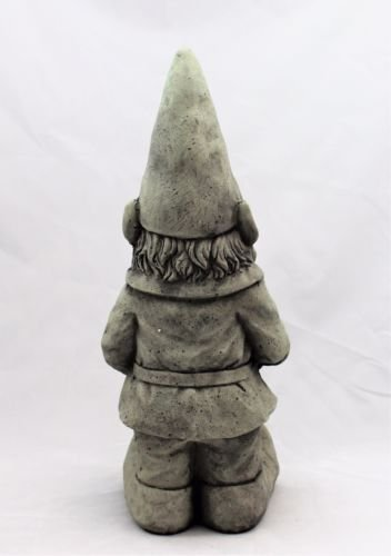 Large-Garden-Gnome-Ornament-Ceramic-Stone-Effect-48-cm-Tall-Outdoor-or-Indoor
