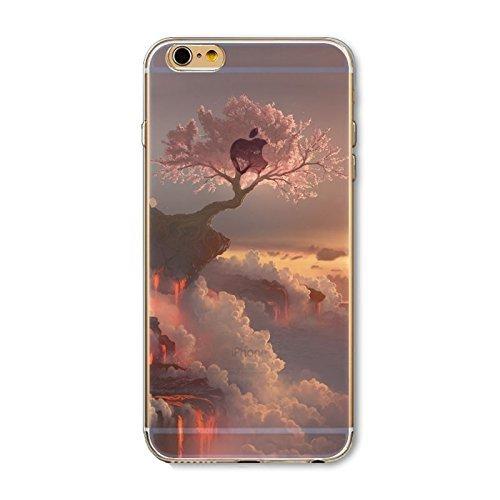 Coque iPhone 5 5s SE Housse étui-Case Transparent Liquid Crystal en TPU Silicone Clair,Protection Ultra Mince Premium,Coque Prime pour iPhone 5 5s-Paysage-style 6 3