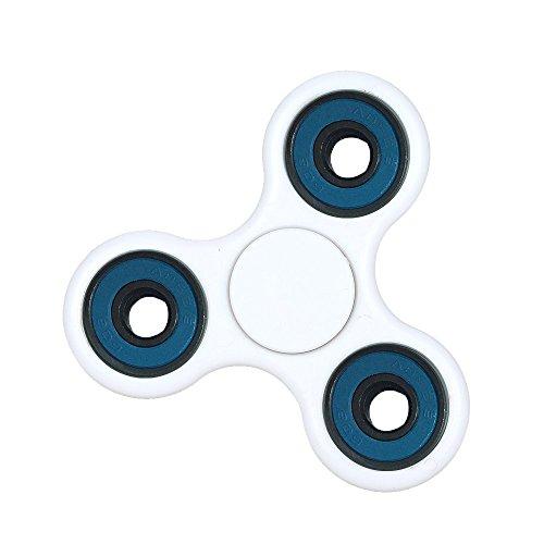 Anself Tri Fidget main doigt Spinner Spin Widget Focus Jouet EDC Pochette desktoy pour enfants adultes bianco