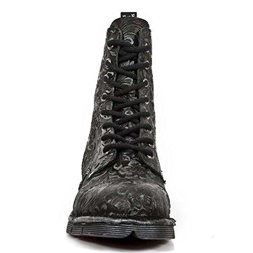 New RockM Newmili083 S7 - Stivali unisex adulto Nero (nero)