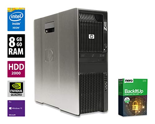 HP Z600 Workstation | Intel Xeon E5620 @ 2,4 GHz | 8GB DDR3 RAM | 2000GB HDD | DVD-Brenner | Nvidia Quadro 2000 | Windows 10 Pro vorinstalliert (Generalüberholt)