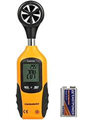 Cadrim Digital Windmesser Windmeter Anemometer Handwindmesser Windgeschwindigkeitsmesser tragbar LCD mit Flügelrad