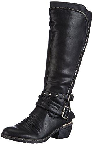 Rieker 92854 00, Bottes femme Noir (Schwarz/Schwarz)