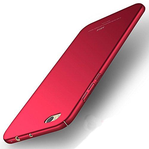 Xiaomi Mi 5c Hülle, MSVII® Sehr Dünn Hülle Schutzhülle Case Und Displayschutzfolie für Xiaomi Mi 5c - Lila JY00283 Rot