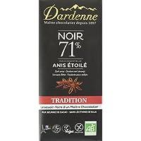 Dardenne Tablette Tradition Chocolat Noir aux Huiles Essentielles d'Anis Etoile 70 g