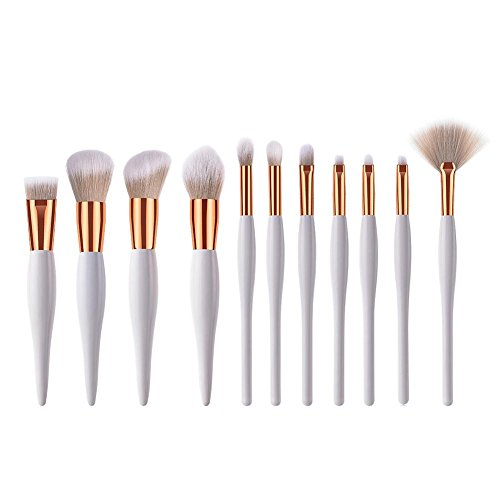 Everpert Lot de 11 Pro Lot de pinceaux de maquillage Poudre à poils doux Yeux Visage Cosmétique Outil