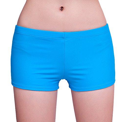 Sasairy Damen Wassersport Badeshorts Sports Kurz Badehose Schwimmen Bikinihose Blau