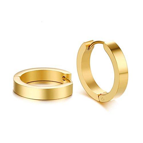 Adisaer 316L Acciaio Inossidabile Creole Donna Semplice 'C' Modulo Oro Orecchini Perla Donne Orecchino Matrimonio