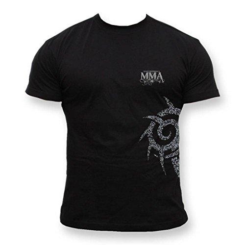 Dirty Ray Kampfsport MMA Tribal Team Herren Kurzarm T-Shirt K24 (XL) -