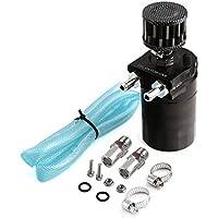 Cilindro universal de aluminio Motor Oil Catch Can reservoir Tank Accesorio de automóvil modificado con Filter Hose Fitting Kit