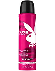 Playboy Déodorant Super Playboy pour Elle 150 ml - Lot de 2