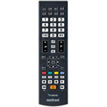 Meliconi FULLY 8 Telecomando Universale 8 in 1 per TV, Decoder, DVD/Blu Ray, Box Multimediali + IPTV + Xbox360 + PS2, Controlla fino ad 8 Apparecchi Contemporaneamente - Ps2 Dvd Remote