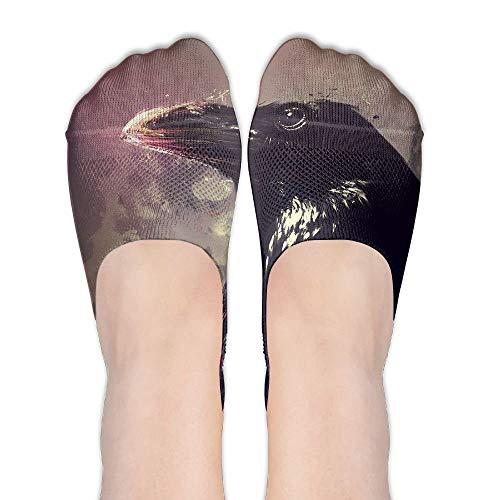 ouyjian Black Crow Painting No Show Socken Liner Socken Low Cut Ped Socken Casual versteckte dünne Socken für Frauen -