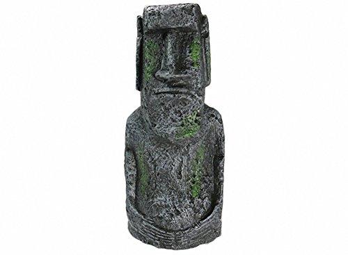 Aquarium Decorations Ancient Easter Island Stone Head Aquarium Ornament, Fish Tank Landscape Ornament Decoration Accessories (Easter Island Aquarium)