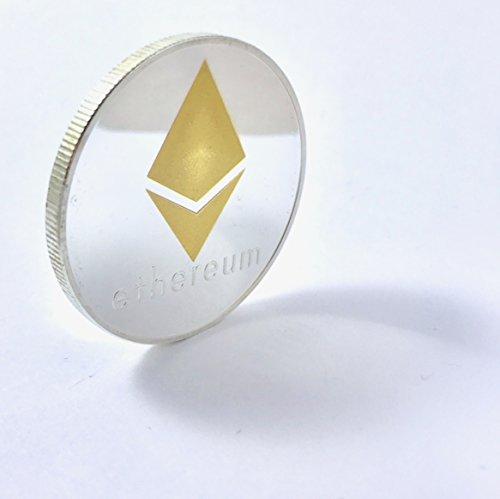 Ethereum Münze ETH, silber- und goldfarben, ideal für Fans von Kryptowährungen - 2