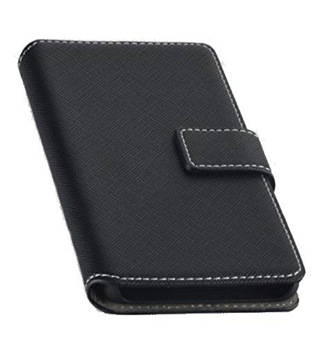 Book Style Handy Tasche - NAS. - für Wiko U Pulse Lite - Cover Case Schutz Hülle Etui Schutzhülle in der Farbe Schwarz - (Bulk)