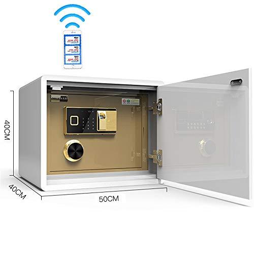 Sicherheitstresor 40cm hohe Bett Invisible Sicher Haushalt Safe Aller Stahl Anti-Diebstahl-Sicherheit WIFI Remote-Verschlüsselung sorgt for zusätzliche Sicherheit ( Color : Brown , Size : 40x40x50cm )