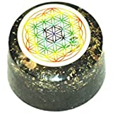 Jet Black Tourmaline Flower of Life Orgone Tower Buster Free 40 Page Booklet on Jet International Crystal Therapy. Piezo Electric EMF Protection Generator Frequency Ions Tested Cloud Chem Buster A++