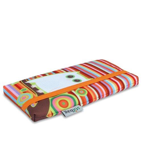 Stilbag maßgeschneiderte Handyhülle MIKA   Design: Funny Owl   Smartphone-Tasche aus Polyester   Handy Schutzhülle   Handytasche Made in Germany Owl Mobile