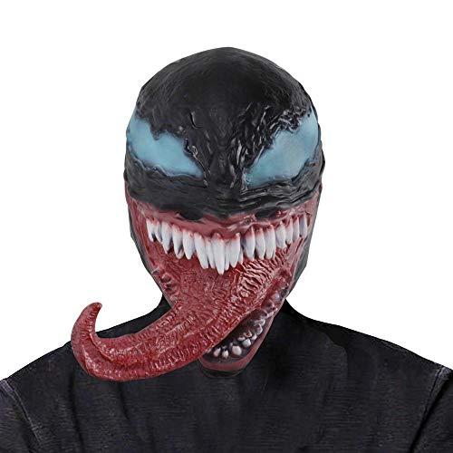 FLY FLU Halloween Masken Teufel, Beängstigend, Lustige Cosplay Venom Mask Melting Face Latex Kostüm Halloween Prop Scary Mask (Bilder Von Teufel Kostüm)