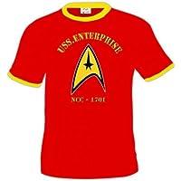 Camiseta Star Trek Logo Entreprise -Roja (Talla: Talla XL Unisex Ancho/Largo [58cm/76cm] Aprox]) - Comparador de precios
