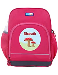 UniQBees Personalised School Bag With Name (Little Life Pre-School Backpack-Pink-Pink Buttons)