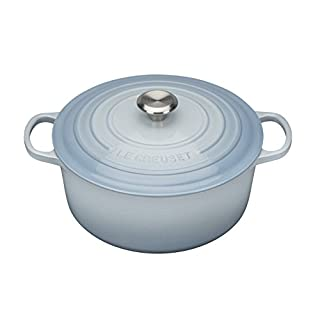 Le Creuset Signature Enamelled Cast Iron Round Casserole Dish With Lid, 24 cm, 4.2 Litres, Coastal Blue, 211772442 (B00YUYX50E) | Amazon price tracker / tracking, Amazon price history charts, Amazon price watches, Amazon price drop alerts