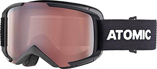 Atomic savor m, maschera da sci all-mountain unisex – adulto, nero/rosa flash, medium fit