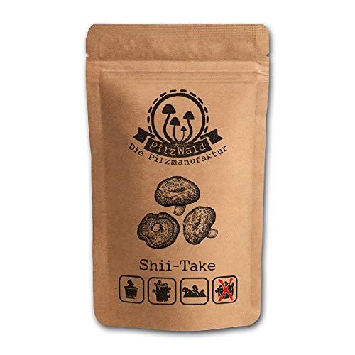 PilzWald Shiitake Pilze züchten - 25 Myzel Pilzdübel - Für Holz, Einmachglas & Blumentopf - Pilzbrut DIY Pilzzucht mit Anleitung