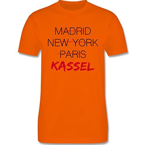 Städte - Weltstadt Kassel - Herren Premium T-Shirt Orange