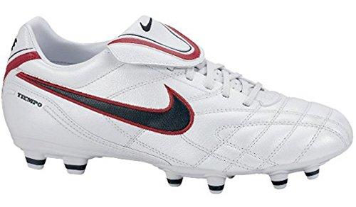 Nike Tiempo mystic 3 fg 366180136, Football Homme Blanc, rouge et noir