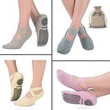Yoga Socken für Damen Rutschfeste, Ideal zu Pilates, Rein Barre, Ballett, Tanz
