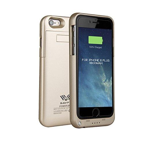 Funda Batería iphone 6 plus / 6s plus , SAVFY Case carcasa Con Batería Cargador-batería Externa Recargable 3200mAh Para iPhone 6 plus / 6s plus 5,5 (Oro)