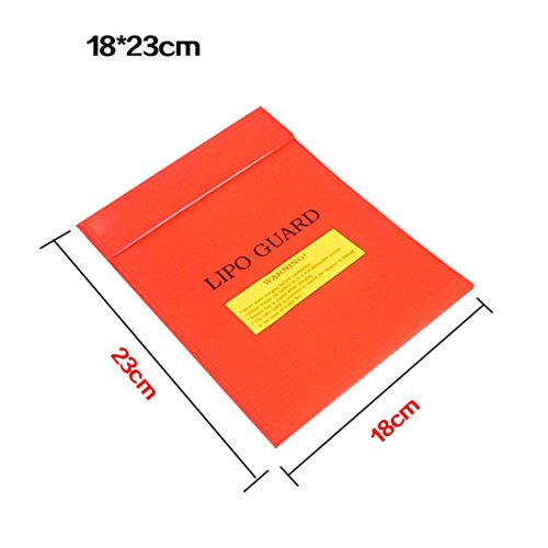 ery Fireproof Safety Guard Safe Bag 18*23CM RD (a) ()