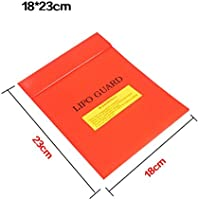 MMLC LiPo Li-Po Battery Fireproof Safety Guard Safe Bag 18*23CM RD