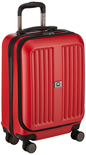 HAUPTSTADTKOFFER - X-Berg - Handgepäck Koffer Hartschalen-Koffer Kabinen-Trolley Rollkoffer Reisekoffer, 4 Rollen, TSA, 55 cm, 42 Liter, Rot matt (Koffer Kabine)