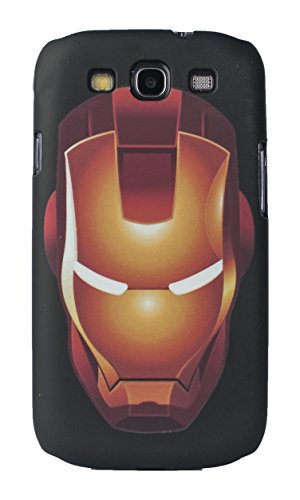Sun Mobisys™; Samsung Galaxy S3 I9300 Back Cover; Touch feel Embossed Printed Back Case for Samsung Galaxy S3 I9300 - IRONMAN  available at amazon for Rs.175