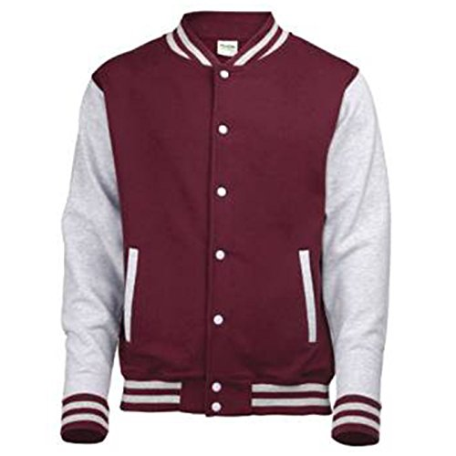 AWDis Herren Modern Jacke Burgundy / Heather Grey