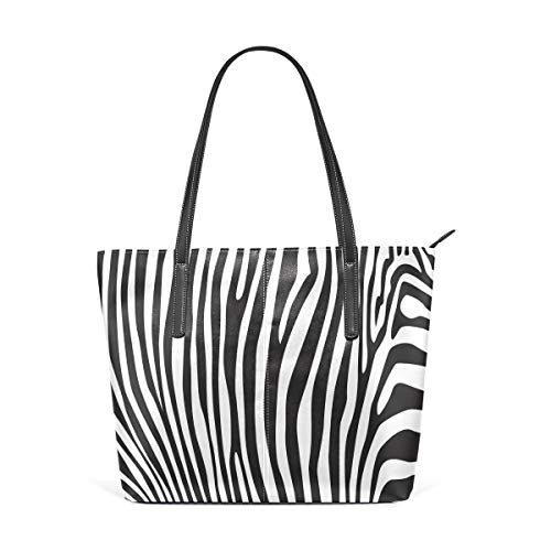 XGBags Custom Frauen Umhängetaschen Zebra Print Stripe PU Leather Shoulder Tote Bag Purse for Women Girls -