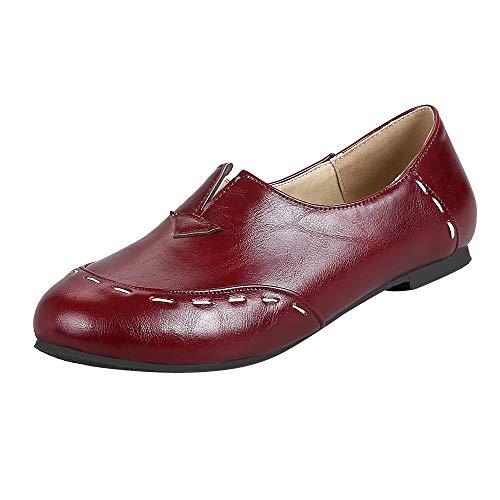 chaussures femme Bottes, Manadlian Martin Bottes Cuir Chaussures Simples Quatre Saisons Bottes