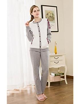 Manica lunga cotone pigiama vestaglia inverno nightwear Ultima donna che può essere indossato all'aperto , m