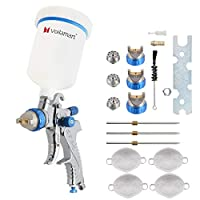 Voilamart HVLP Gravity Feed Air Spray Gun 600CC Cup Paint Sprayer Airbrush Painting Tool Kit with 3 Nozzle 1.4MM 1.7MM 2.0MM
